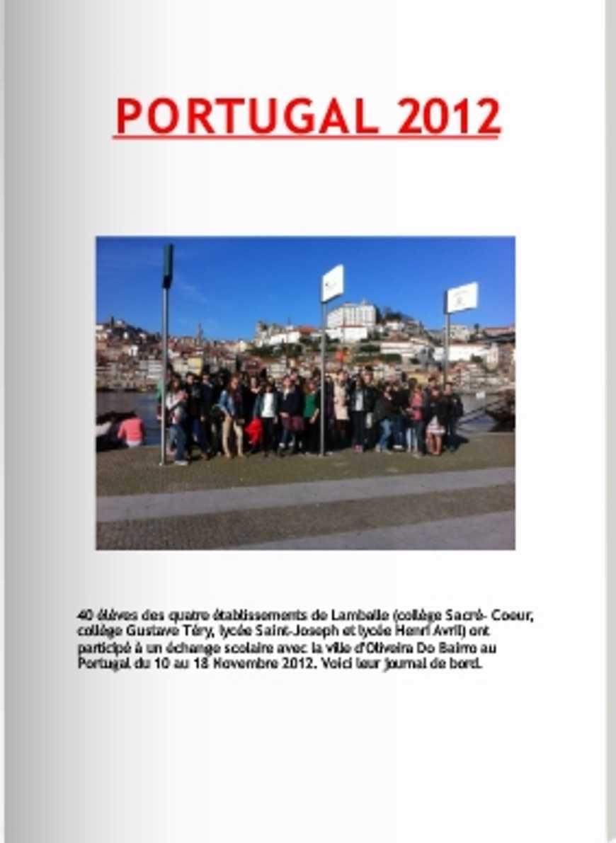Retour du Portugal : reportage 0