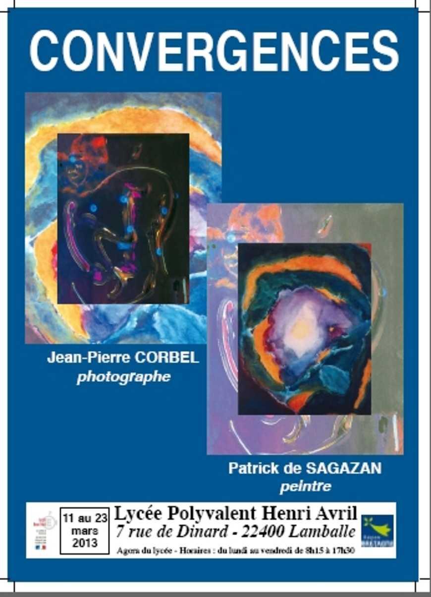 Convergences : Jean Pierre Corbel et Patrick de Sagazan exposent dans l''agora 0