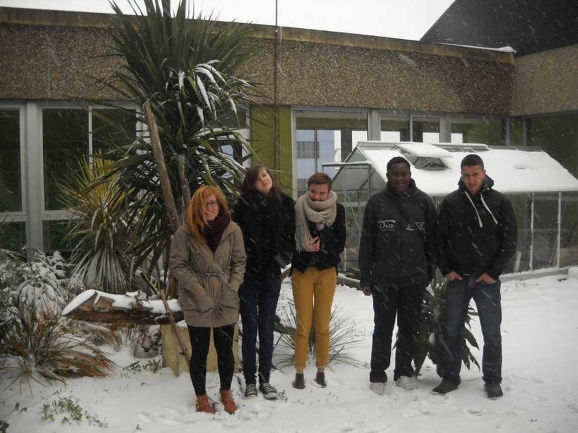Le lycée de nouveau sous la neige : reportage photo 0